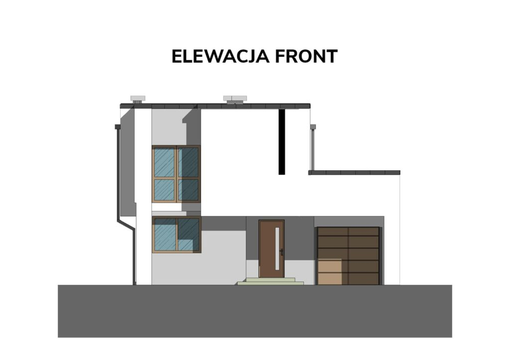 A C D ELEWACJA FRONT